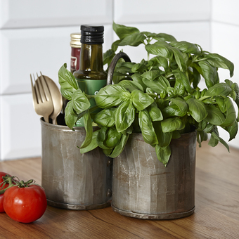 Upcycled brass 'Thali' storage pots