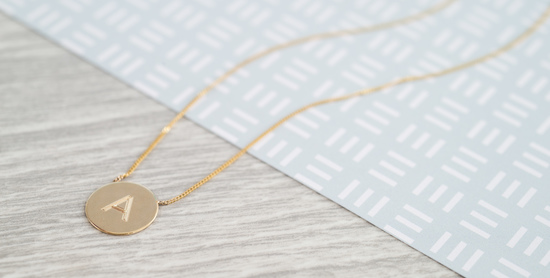 Personalised Westbourne Disc Necklace