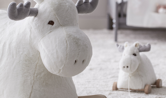 Personalised rocking moose toy