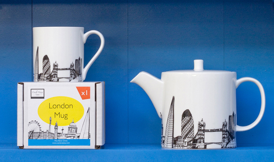 London Teapot and Mug