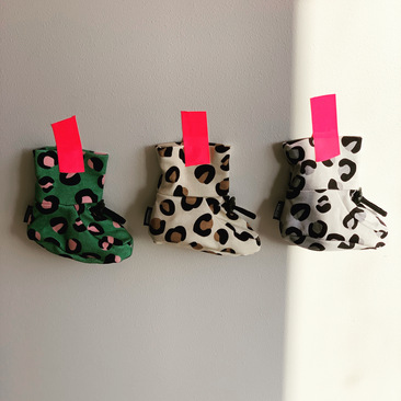 leopard print baby booties, cool baby shoes, first shoes, pre walker,
