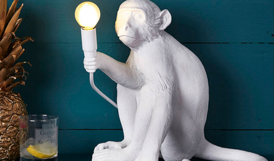 monkey table lamp