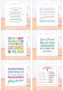 Sample of our Quote Card range