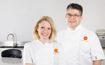 Photo of Vicky and Rupert, our Chefs