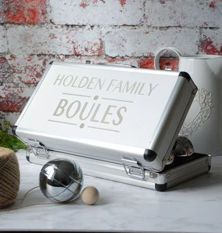 Personalised Family Boules or Petanque Set