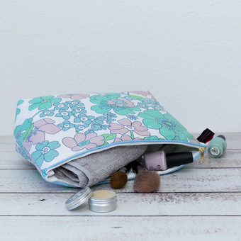Pre Loved Print Fabric Wash Bag Limited Edition