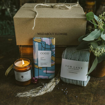 Handpicked luxury items, presented beautifully in our gift boxes filled with homegrown dried botanicals.