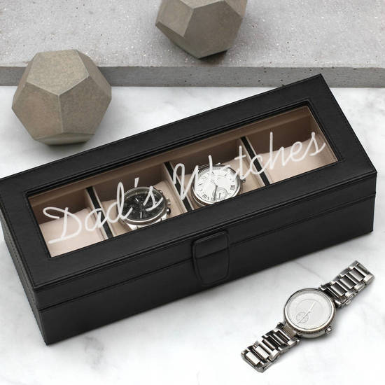 Hurleyburley Man Personalised Leather Watchbox