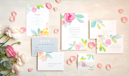 Rose Garden Wedding Stationery