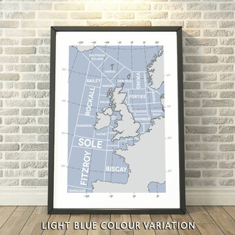 The Shipping Forecast Regions Print