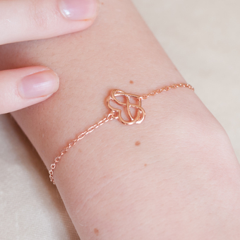 Infinite hearts rose gold bracelet