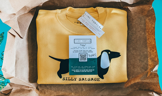 Packaging with Silly Sausage Jumper