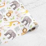 Animal illustration wrapping paper