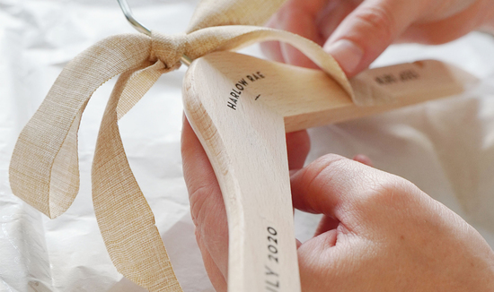 Personalised Baby Coathanger