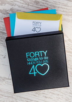 The perfect 40th birthday gift. 30 activities in sealed envelopes to make memories and create adventures