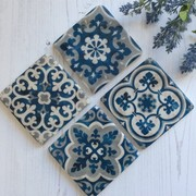 Mediterranean Design Blue And White Coaster