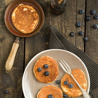 Blueberry Pancakes By The Little Pancake Company