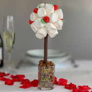 The marshmallow and edible rose tree