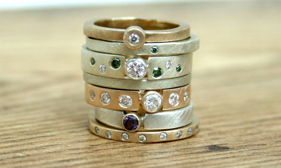 Eco Diamond Gold Rings