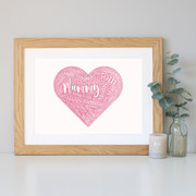 Personalised watercolour heart Birthday Gift