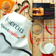 Make your own Spicy Burger Kit with personalised apron