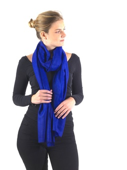 Electric Blue Cashmere Scarf