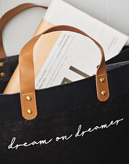 Dream on Dreamer Jute Bag
