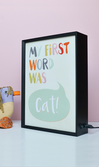 First Word Tickles Light Box