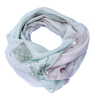 Luxury layered Slouch infinity scarf