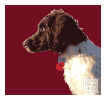personalised dog print