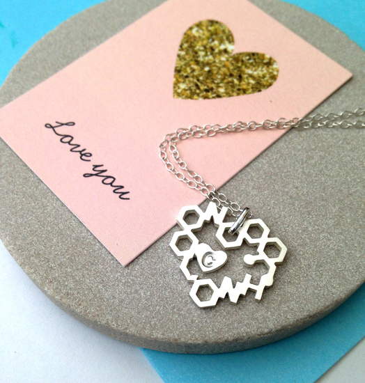 Love Chemistry With Initial Necklace - the perfect Valentine's Day Gift