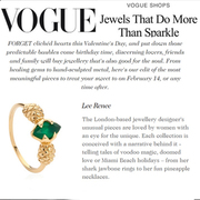 Voted into Vogue Magazine's 'Jewellery Designers to watch' list