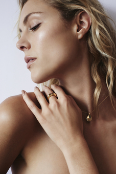 Necklace and Ring on Model