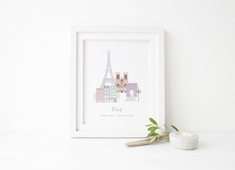 Personalised Paris City Print