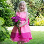 Girls Pink Occasion Butterfly Bow Dress