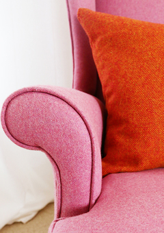 Cosy pink armchair