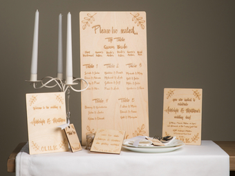 wooden engraved wedding signs