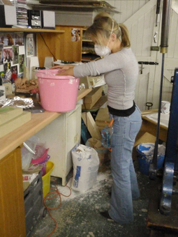 Jessica Irena Smith at work in her glass studio