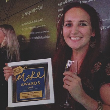 Kathryn, Magpie Accessories founder with our award!