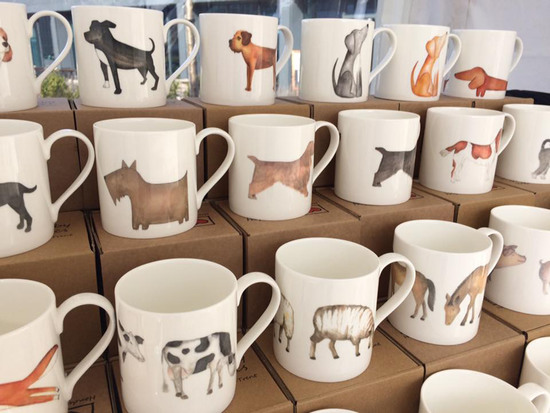 Our popular animal designs on fine bone china mugs. All made in Stoke-onTrent.