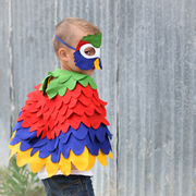Colourful parrot costume for kids