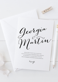 Wedding invite - Bailey collection