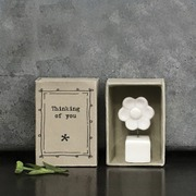 Thinking of you porcelain flower matchbox gift