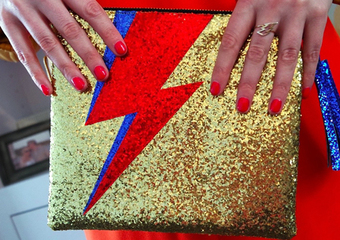 The Bowie Flash clutch bag lifestyle