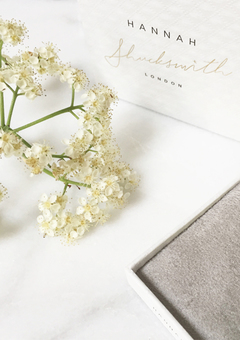 Hannah Shucksmith jewellery packaging and floral decoration