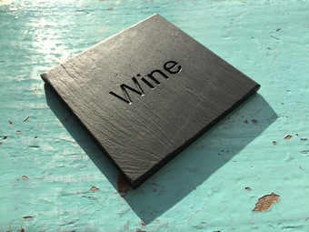 Personalised Welsh slate products.