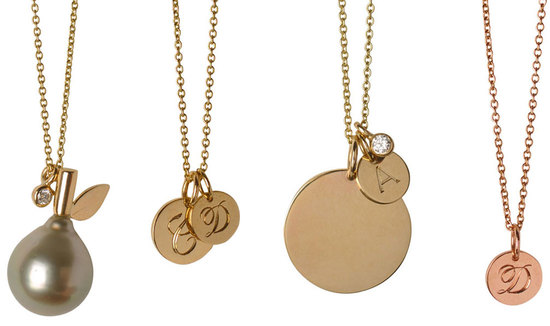 gold engraved necklaces