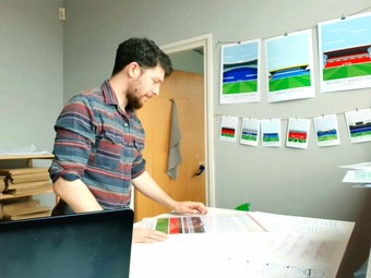 Ben in his studio