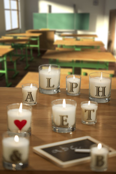 Our hand poured Alphabet Personalized Candles