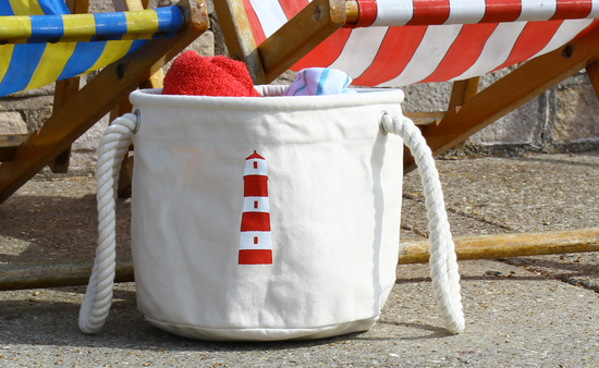 Beach bag with a Lighthouse design